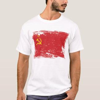 Bandeira de União Soviética do Grunge - URSS Camiseta
