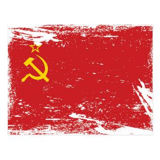 Bandeira de União Soviética do Grunge - URSS