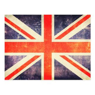 Bandeira de Union Jack do vintage Cartão Postal