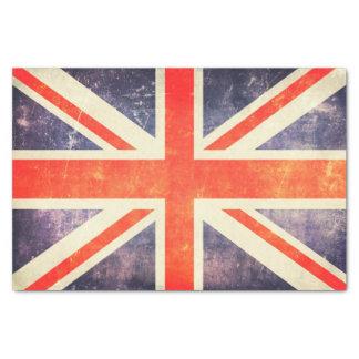 Bandeira de Union Jack do vintage Papel De Seda