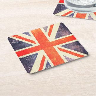 Bandeira de Union Jack do vintage Porta-copo De Papel Quadrado