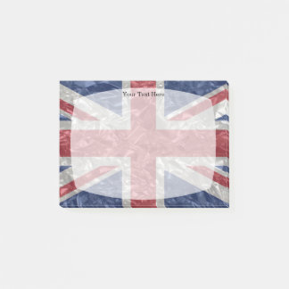 Bandeira de Union Jack - enrugada Bloco Post-it
