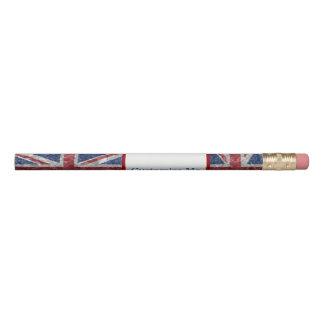 Bandeira de Union Jack - enrugada Lápis