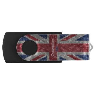 Bandeira de Union Jack - enrugada Pen Drive Giratório