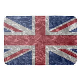 Bandeira de Union Jack - enrugada Tapete De Banheiro