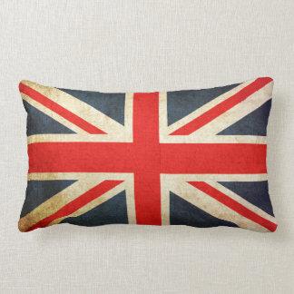 Bandeira de Union Jack Ingleses do vintage Almofada Lombar