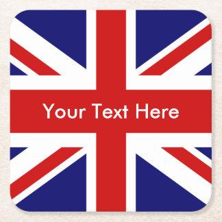 Bandeira de Union Jack Ingleses Porta-copo De Papel Quadrado