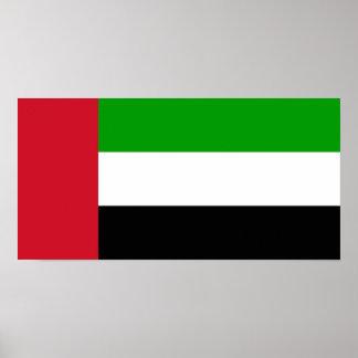 Bandeira de United Arab Emirates Poster