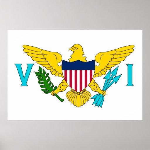 Bandeira de United States Virgin Islands, os Estad Impressão