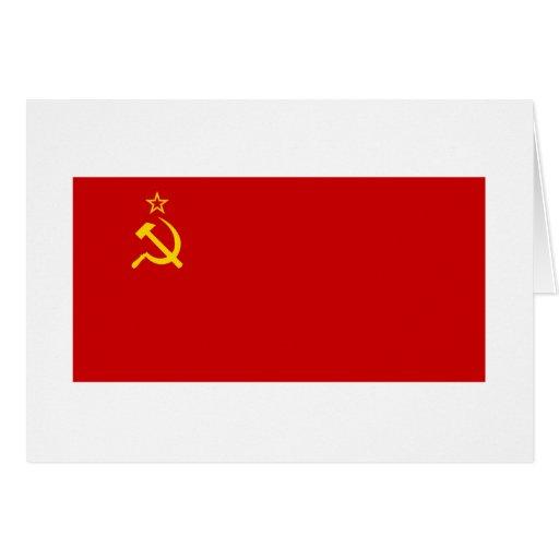 Bandeira de URSS Cartão
