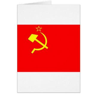 Bandeira de URSS Cartões