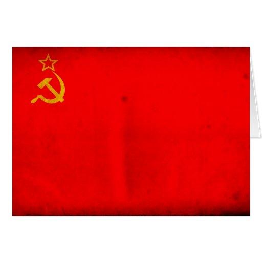 Bandeira de URSS Cartao