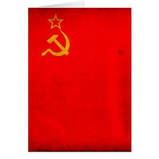 Bandeira de URSS Cartão Comemorativo