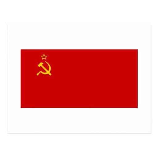 Bandeira de URSS Cartões Postais