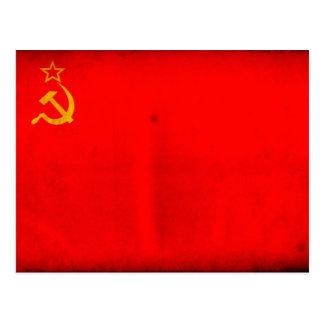 Bandeira de URSS Cartao Postal