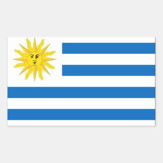 Bandeira de Uruguai Adesivo Retangular
