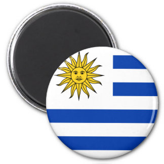 Bandeira de Uruguai Ímã Redondo 5.08cm