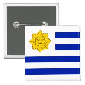 Bandeira de Uruguai (Oribe), os Estados Unidos Bóton Quadrado 5.08cm