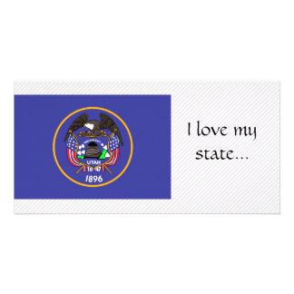 Bandeira de Utá Cartões Com Foto Personalizados