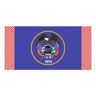 Bandeira de Utá Cartão Com Foto