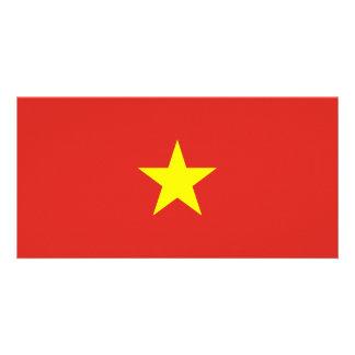 Bandeira de Vietnam Cartão Com Foto