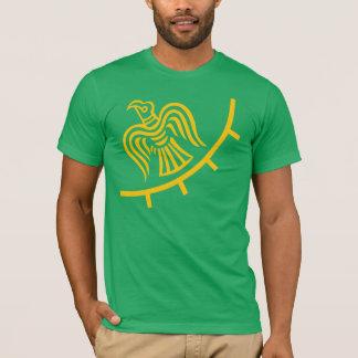 Bandeira de Viking na camisa verde