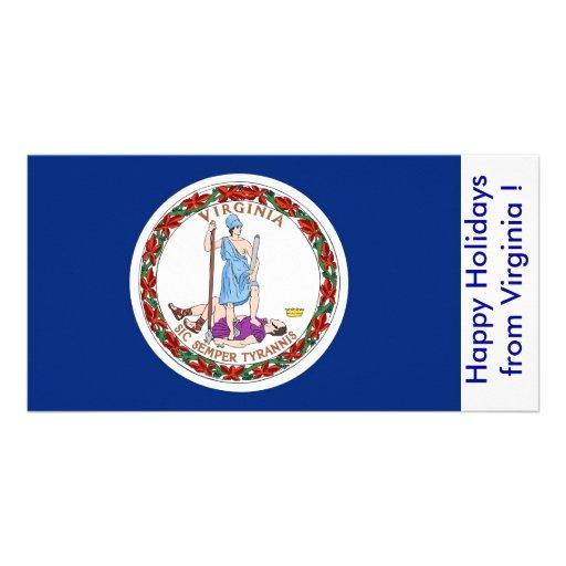 Bandeira de Virgínia, boas festas dos EUA Cartões Com Fotos