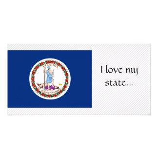 Bandeira de Virgínia Cartão Com Fotos