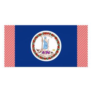 Bandeira de Virgínia Cartoes Com Fotos Personalizados