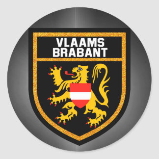 Bandeira de Vlaams-Brabante Adesivo