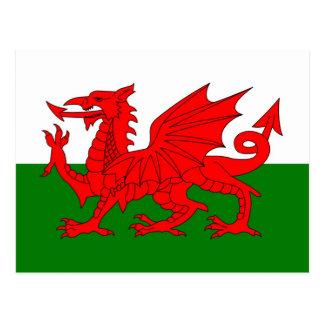 Bandeira de Wales Cartão Postal