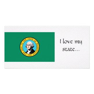 Bandeira de Washington Cartão Com Foto Personalizado