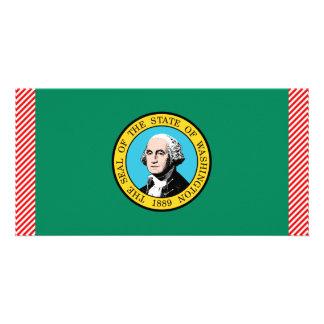 Bandeira de Washington Cartão Com Fotos