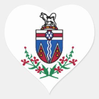 Bandeira de Yukon (Canadá) Adesivo De Coração