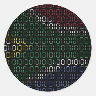 bandeira digital África do Sul Adesivo