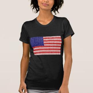bandeira digital (EUA) Camiseta