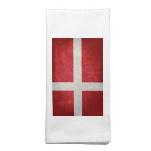 Bandeira dinamarquesa guardanapos impresso