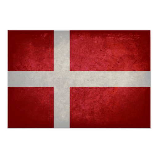 Bandeira dinamarquesa pôsteres
