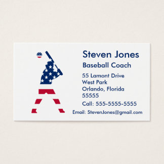 Bandeira do americano do basebol de América Cartão De Visitas