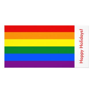 Bandeira do arco-íris de LGBT, boas festas Cartão Com Foto