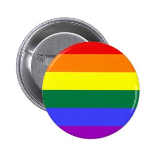 Bandeira do arco-íris de LGBT Bóton Redondo 5.08cm