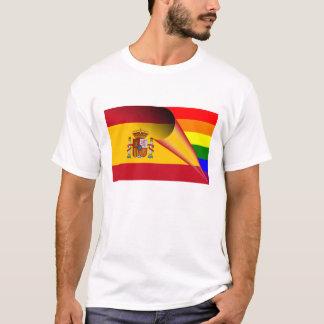 Bandeira do arco-íris do orgulho gay da espanha camiseta