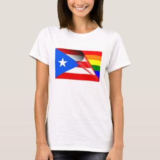 Bandeira do arco-íris do orgulho gay de Puerto Camiseta