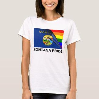 Bandeira do arco-íris do orgulho LGBT de Montana Camiseta