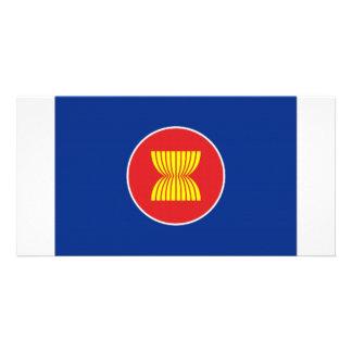 Bandeira do ASEAN Cartão Com Foto