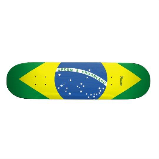 Bandeira do Brasil Shape De Skate 19,7cm