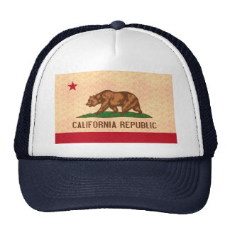 Bandeira do californiano do teste padrão do vintag bonés