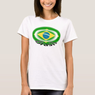 bandeira do capoeira da samba de Brasil Brasil da Camiseta