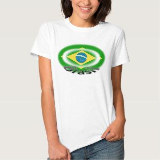 bandeira do capoeira da samba de Brasil Brasil da T-shirts