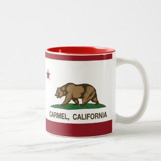 Bandeira do carmel da bandeira de Califórnia Caneca Dois Tons